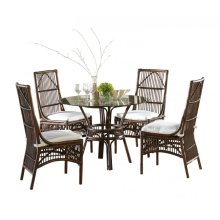 Bora Bora 6 PC Dining Set w/beige cushions