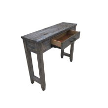 Rustic Brown Console Table