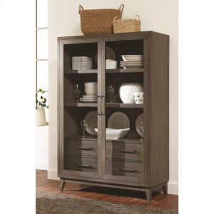 RiversideVogue - Display Cabinet - Gray Wash Finish