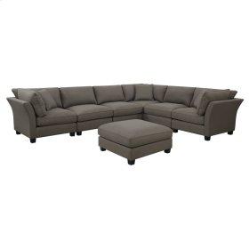 7 PC Set-3 Corners-3 Armless Chairs-1 Otto-w/3 Pillows Brown Zw6380-6