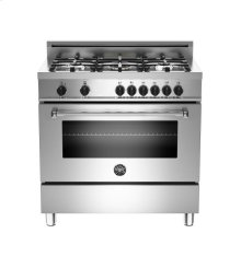 Stainless 36 5-Burner, Electric Oven