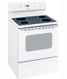 "MCBS585DRWW - White on White Moffat 30"" Free Standing Electric Standard Clean Range"