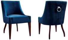 Dover Blue Velvet Chair Product Image
