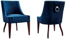 Dover Blue Velvet Chair Product Image
