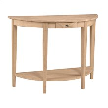 OT-1643HD Half Moon Console Table