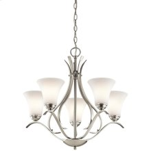 Keiran Collection 5 Light Chandelier  Brushed Nickel NI