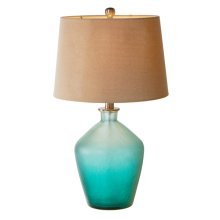 Turquoise Ombre Table Lamp. 60W Max.