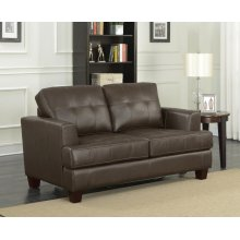 Transitional Brown Loveseat Sleeper