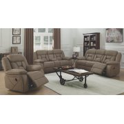 Houston Casual Tan Reclining Three-piece Living Room Set Product Image