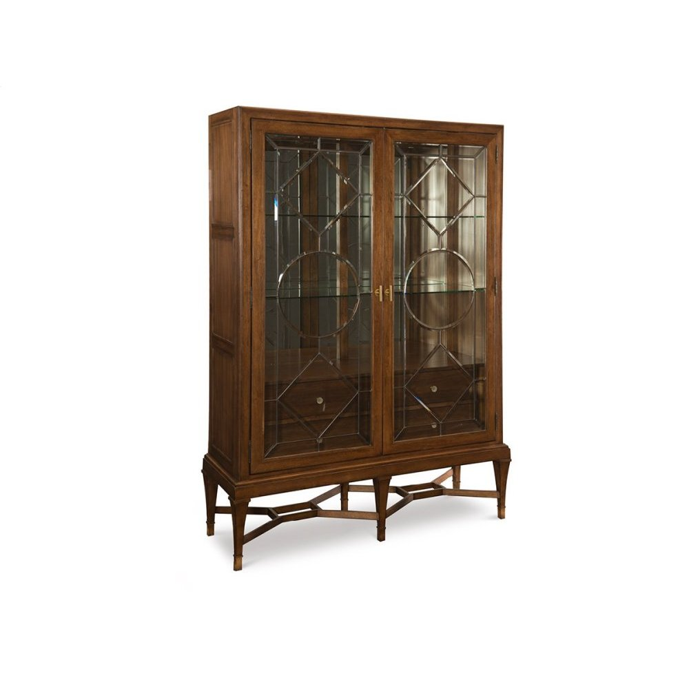 Angolo Leaded Glass Cabinet
