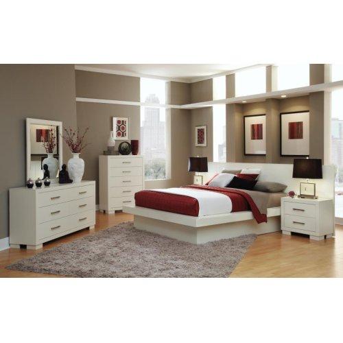 Jessica Contemporary White California King Bed
