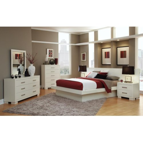Jessica Contemporary White California King Bed