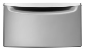 """15.5"""" Laundry Pedestal with Chrome Handle and Storage Drawer - C6"""