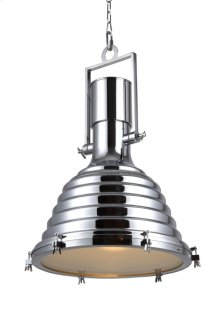 "Industrial Collection Chandelier D:21.25"" H:29.5"" Lt:1 Chrome Finish"