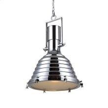 """Industrial Collection Chandelier D:21.25"""" H:29.5"""" Lt:1 Chrome Finish"""