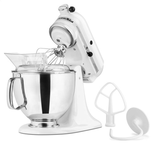Exclusive Artisan® Series Stand Mixer & Patterned Ceramic Bowl Set - White