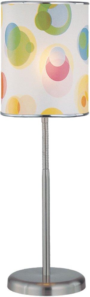 Table Lamp, Ps, Printed Vinyl Shade, E27 Cfl 11w