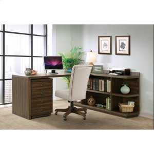 RiversidePerspectives - Upholstered Back Desk Chair - Brushed Acacia Finish