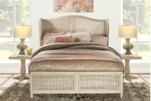 Sausalito King Bed Set With Rails (antique White)