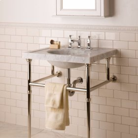 Vintage Washbasin, 27 Inch Carrara Marble / 3pc Splash Set