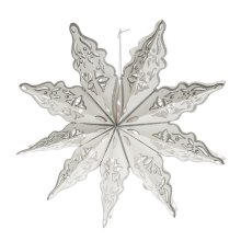Snowflake with Silver Trim Hanging Pendant.