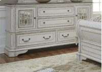 2 Mirrored Door 4 Drawer Dresser Product Image