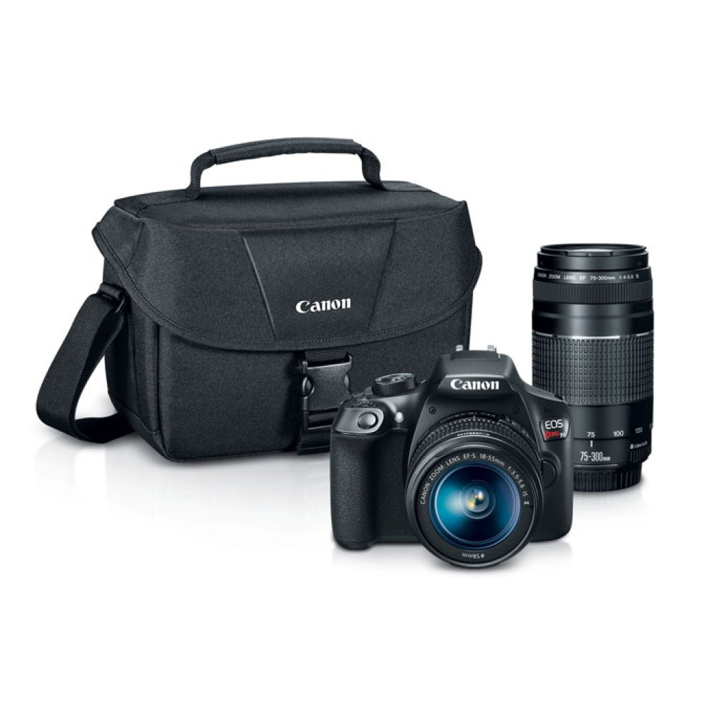 Canon EOS Rebel T6 Double Zoom Lens Kit Digital SLR Camera