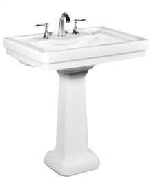 White RICHMOND Pedestal Lavatory Grande, 8-inch spread