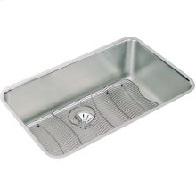 """Elkay Lustertone Classic Stainless Steel 30-1/2"""" x 18-1/2"""" x 10"""", Single Bowl Undermount Sink Kit with Perfect Drain"""