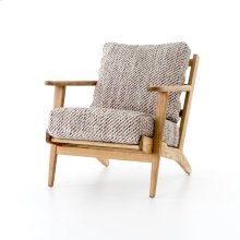 Smoked Kilim Cover Distressed Washed Old Oak Finish Brooks Lounge Chair
