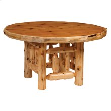 Round Dining Table - 54-inch - Natural Cedar - Liquid Glass