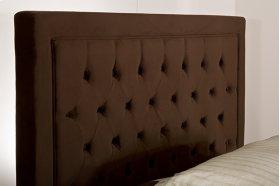 Kaylie Fabric Headboard - King / Cal King - Chocolate