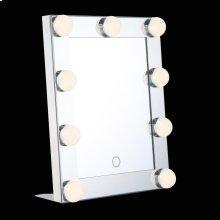 TABLE MINI-HOLLYWOOD MIRROR - Chrome