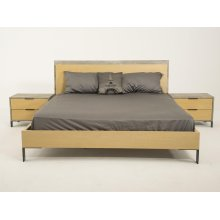 Nova Domus Conner Modern Light Walnut & Concrete Bed