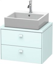 Brioso Vanity Unit For Console Compact, Light Blue Matt Decor
