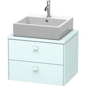 Brioso Vanity Unit For Console Compact, Light Blue Matt Decor
