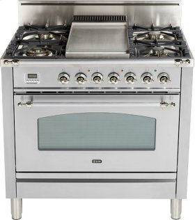 "Stainless Steel - Nostalgie 36"" Gas Range"