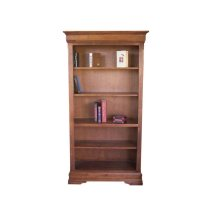 "Phillipe 80"" High Bookshelf w/3 Adjustable Shelves with Doors"