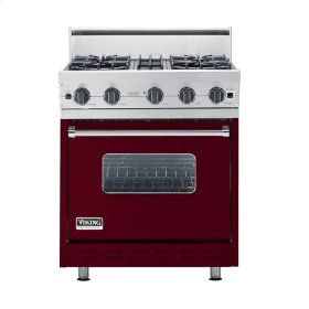 "Burgundy 30"" Open Burner Range - VGIC (30"" wide, four burners)"
