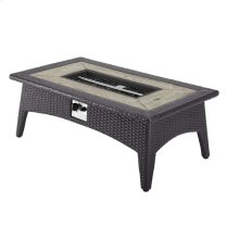 "Splendor 43.5"" Rectangle Outdoor Patio Fire Pit Table in Espresso"