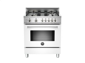 30 4-Burner, Electric Self-Clean Oven White