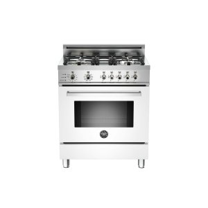 30 4-Burner, Electric Self-Clean Oven White - White