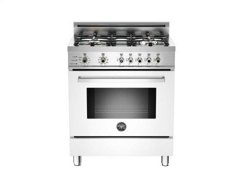 30 4-Burner, Electric Self-Clean Oven White