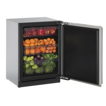 """24"""" Solid Door Refrigerator Stainless Solid Right-Hand Hinge"""
