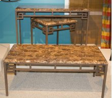 Aztec Faux Marble Sofa Table