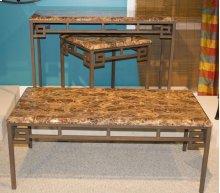 Aztec Faux Marble Sofa Table