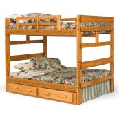 Full/Full Bunk Bed with Center Support