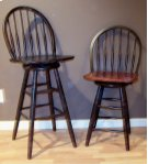 """#227 Bow Back Counter Stool 18""""wx17""""dx40""""h Product Image"""