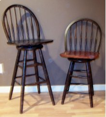 """#227 Bow Back Counter Stool 18""""wx17""""dx40""""h"""