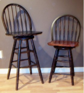 "#228 Bow Back Bar Stool18""wx17""dx45""h"